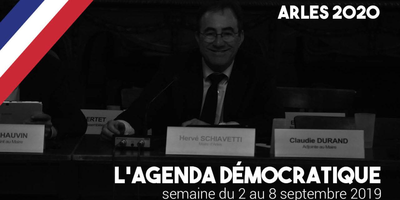 Agenda démocratique – Arles 2020 – du 2 au 8 septembre