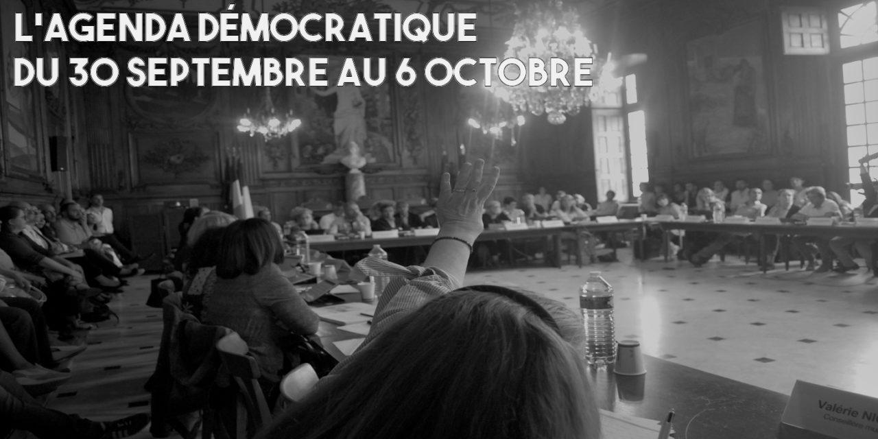 L'agenda démocratique – 30 au 6 octobre 2019 – Arles 2020