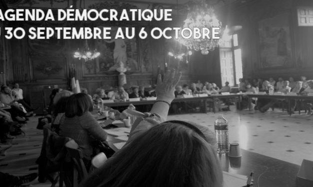 L'agenda démocratique - 30 au 6 octobre 2019 - Arles 2020