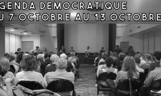 L'agenda démocratique - 7 au 13 octobre 2019 - Arles 2020