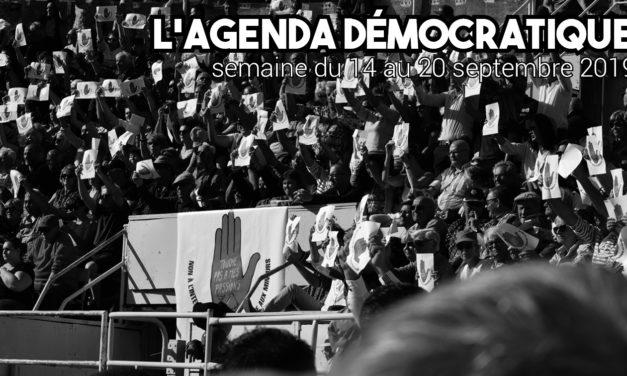 L'agenda démocratique - 14 au 20 octobre 2019 - Arles 2020