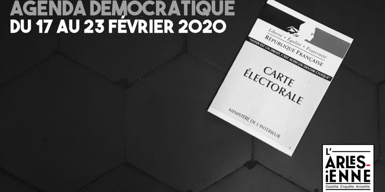 [Agenda démocratique] Du 17 au 23 février 2020