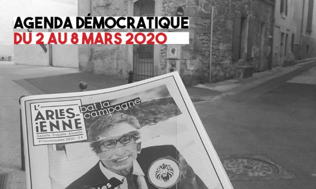 Agenda démocratique du 2 au 8 mars 2020