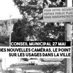 Conseil Municipal du 27 mai : des nouvelles caméras pour la Ville, le point sur leurs usages