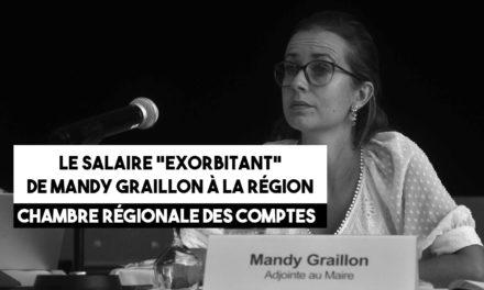 Le salaire «exorbitant» de Mandy Graillon à la Région souligné par la Cour des comptes