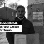 Karim Idrissi veut garder son bleu de travail à la mairie