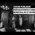 Notes pour le conseil municipal du 27 novembre 2020