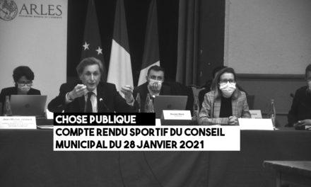 Compte rendu sportif du conseil municipal du 28 janvier 2021