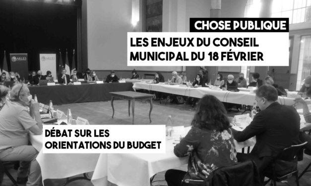 Notes pour le conseil municipal du 18 février 2021 : le nouveau budget