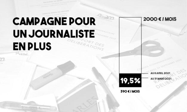 Campagne pour un journaliste en plus