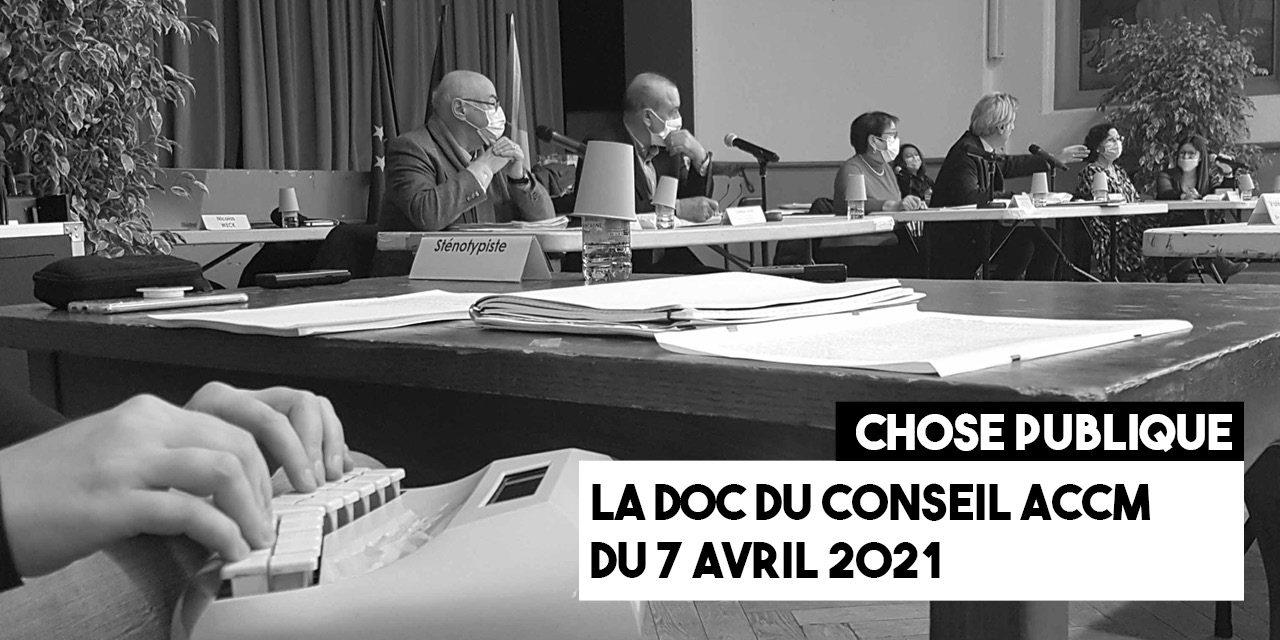 Notes pour le conseil ACCM du 7 avril 2021