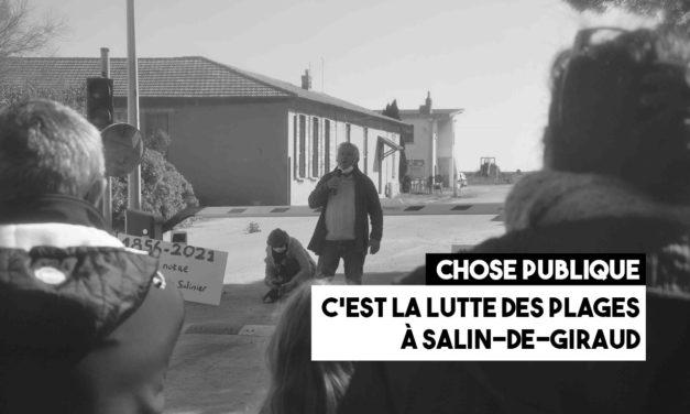Une manifestation contre les nouvelles barrières des Salins du Midi