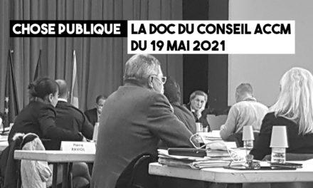 Notes pour le conseil ACCM du 19 mai 2021